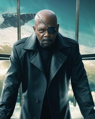 Nick Fury Captain America The Winter Soldier - Obrázkek zdarma pro 352x416
