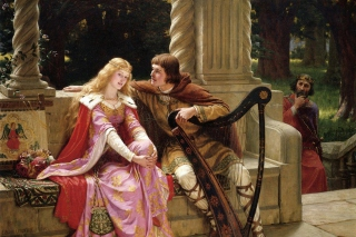 Edmund Leighton Romanticism English Painter Background for Android, iPhone and iPad