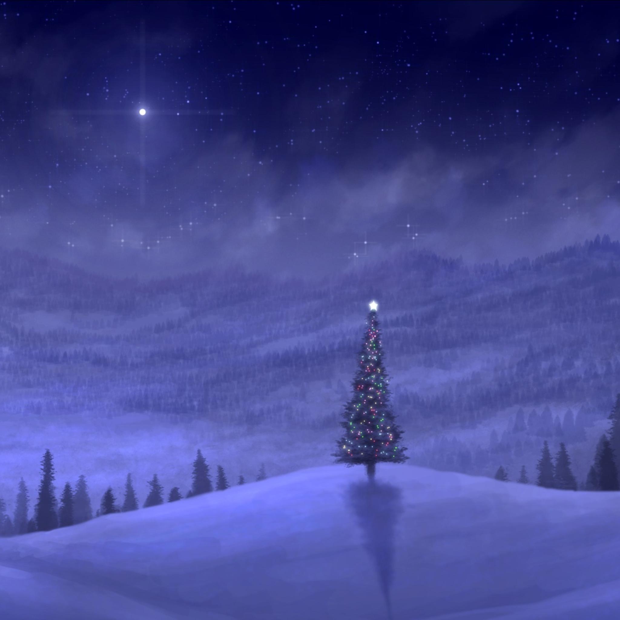 ель огни снег  № 3330368 загрузить