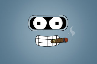 Futurama Bender Cigar Picture for Android, iPhone and iPad