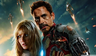Iron Man 3 Tony Stark Pepper Potts Picture for Android, iPhone and iPad