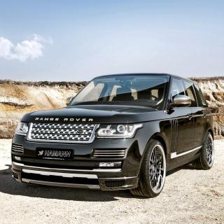 Land Rover Range Rover Black - Obrázkek zdarma pro iPad Air