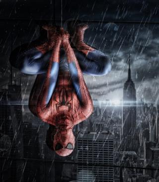 Spiderman Under Rain - Obrázkek zdarma pro Nokia C5-05