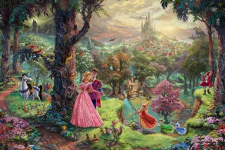 Sleeping Beauty By Thomas Kinkade Wallpaper for Android, iPhone and iPad