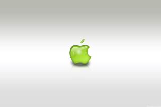 Green Apple Logo Background for Android, iPhone and iPad