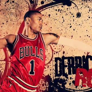 Derrick Rose in Chicago Bulls - Obrázkek zdarma pro 320x320