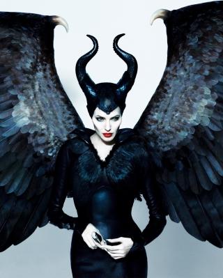 Angelina Jolie Maleficent - Obrázkek zdarma pro Nokia Asha 203