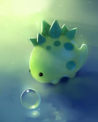 Green Dino - Obrázkek zdarma pro Nokia Asha 202