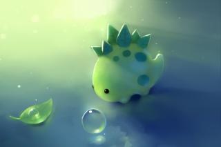 Green Dino - Obrázkek zdarma pro 480x400