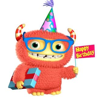 3d Cute Monster - Obrázkek zdarma pro iPad 3