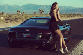 Audi R8 Girl Background for Android, iPhone and iPad