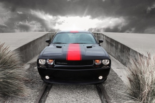 Dodge Challenger Front View Background for Android, iPhone and iPad