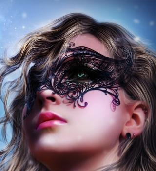 Girl Wearing Mask - Obrázkek zdarma pro iPad