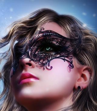 Girl Wearing Mask - Obrázkek zdarma pro Nokia Asha 503