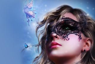 Girl Wearing Mask - Obrázkek zdarma pro Nokia XL
