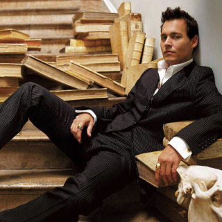 Johnny Depp - Obrázkek zdarma pro iPad mini 2