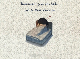 Love Is Jump To Bed Picture for Android, iPhone and iPad