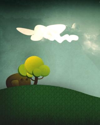 Elephant Hiding Behind Tree - Obrázkek zdarma pro Nokia C1-01