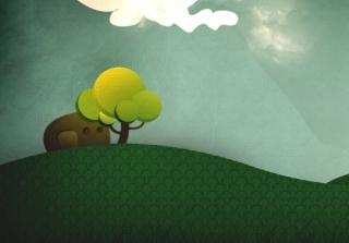 Elephant Hiding Behind Tree - Obrázkek zdarma pro Samsung Galaxy S4