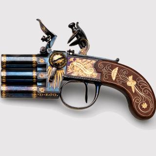 Napoleons Emperor three chamber Pistol Marengo - Obrázkek zdarma pro 128x128
