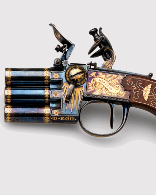 Napoleons Emperor three chamber Pistol Marengo - Obrázkek zdarma pro 750x1334