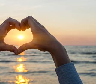 Love Sunset - Obrázkek zdarma pro iPad