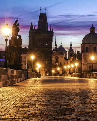 Prague Charles Bridge - Obrázkek zdarma pro Nokia 206 Asha