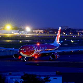 Airbus A330 Air Asia - Obrázkek zdarma pro 208x208