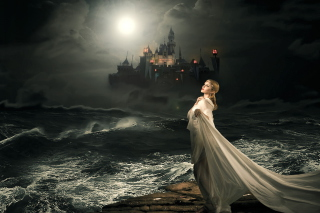 Princess And Castle Wallpaper for Android, iPhone and iPad
