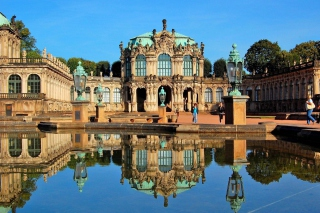 Dresden Zwinger Palace Background for Android, iPhone and iPad