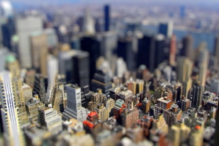 Tilt-Shift New York City Picture for Android, iPhone and iPad