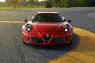 Alfa Romeo 4C Front View - Obrázkek zdarma pro 800x480