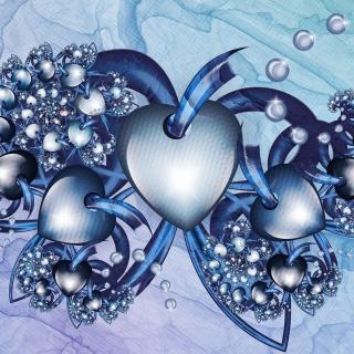 Fractal Hearts - Obrázkek zdarma pro iPad 3