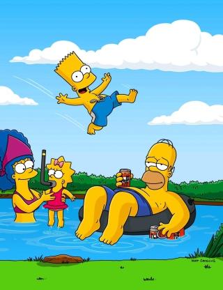 Simpsons - Obrázkek zdarma pro 176x220