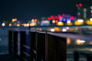 Degradation Macro Bokeh City Background for Android, iPhone and iPad