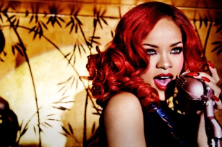 Rihanna Singing Wallpaper for Android, iPhone and iPad