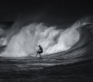 Black And White Surfing - Obrázkek zdarma pro iPad mini 2