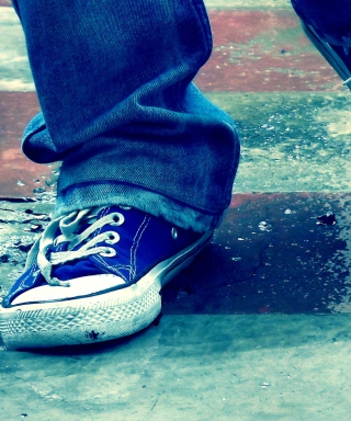 Blue Shoes - Obrázkek zdarma pro iPhone 5