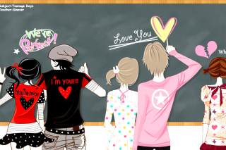 Teenagers Day in School Background for Android, iPhone and iPad