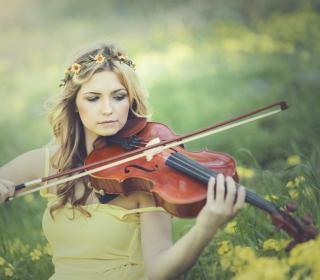 Girl Violinist - Obrázkek zdarma pro 2048x2048