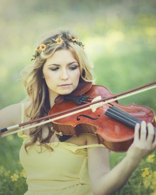 Girl Violinist - Obrázkek zdarma pro Nokia X2-02