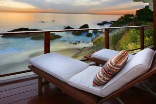 Sunset Relax in Spa Hotel Wallpaper for Android, iPhone and iPad