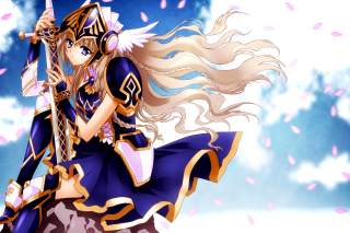 Free Anime warrior girl Picture for Android, iPhone and iPad