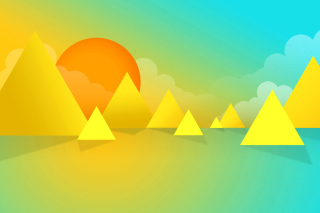 Yellow Geometric Shapes Picture for Android, iPhone and iPad