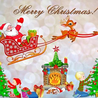 Merry Xmas Card - Obrázkek zdarma pro 1024x1024