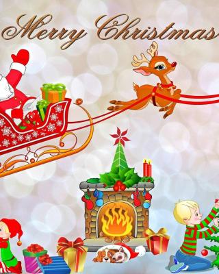 Merry Xmas Card - Obrázkek zdarma pro Nokia X1-00