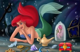 The Little Mermaid Background for Android, iPhone and iPad