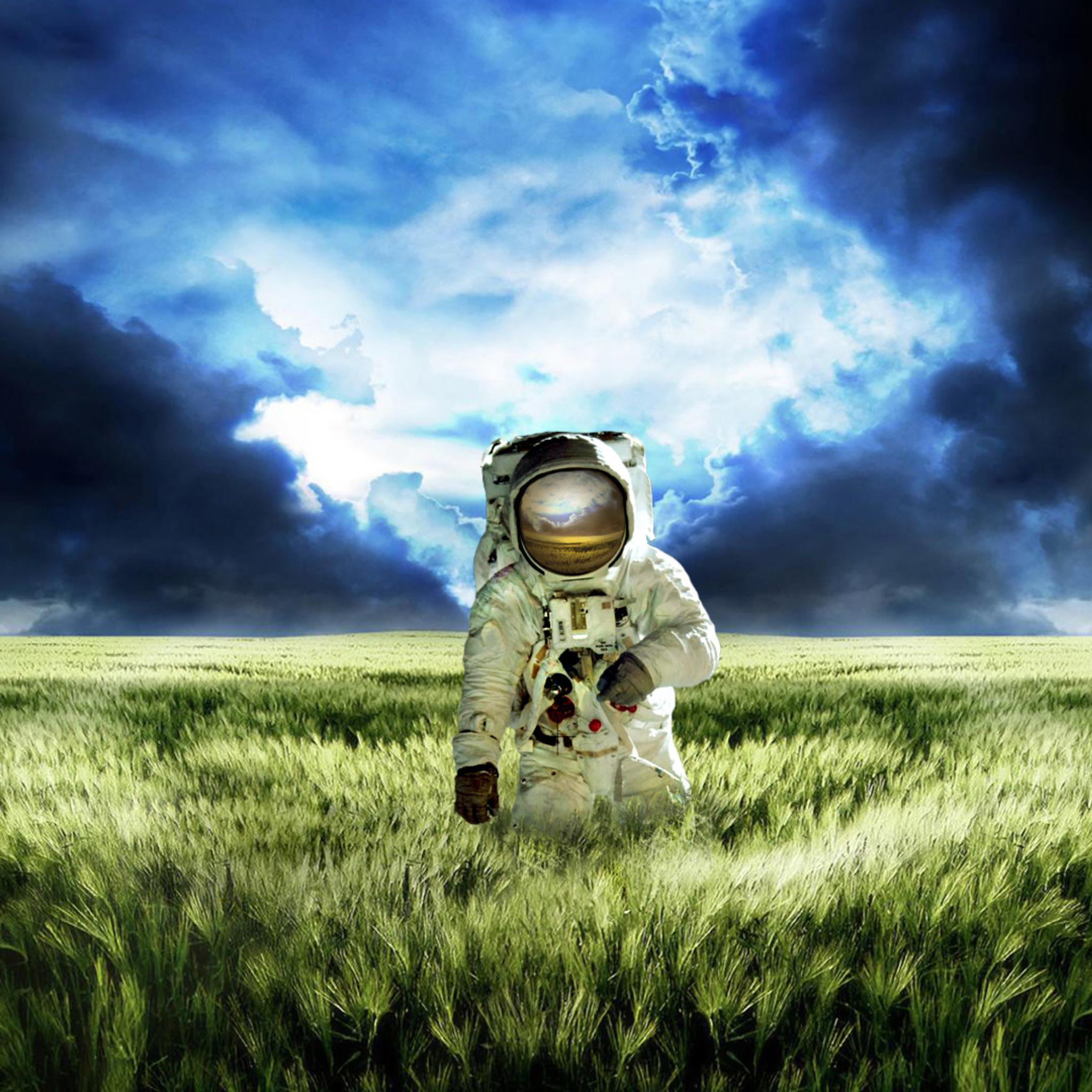 космос трава космонавт space grass astronaut  № 3317071 бесплатно