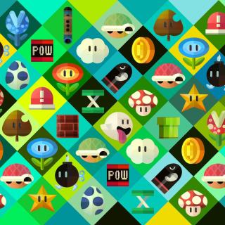 Super Mario power ups Abilities in Nintendo - Obrázkek zdarma pro iPad Air
