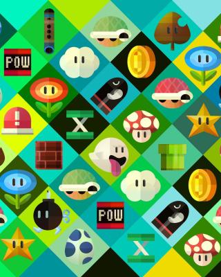 Super Mario power ups Abilities in Nintendo - Obrázkek zdarma pro Nokia Asha 501